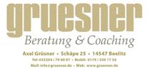 Grüsner - Beratung & Coaching